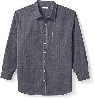 Men's Big & Tall Long-Sleeve Gingham Casual Poplin Shirt fit by DXL