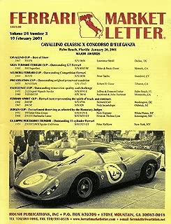 Ferrari Market Letter : Articles- Cavallino Classic X Concorso D'elleganza; The 2001 Arizona Auctions (2001 Pamphlt)