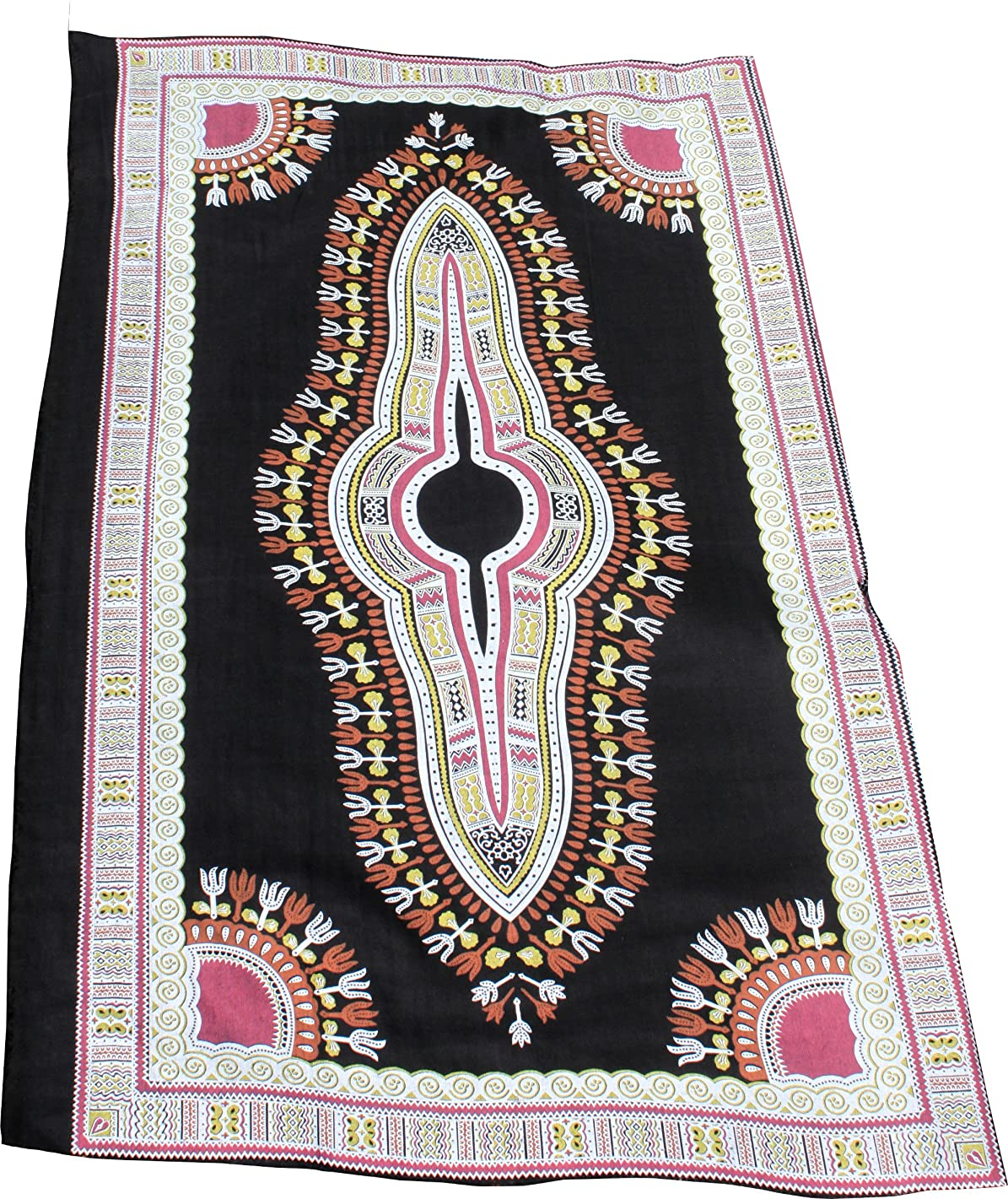 RaanPahMuang Light Gauze Saloo Fabric Printed Afrikan Dashiki Pattern 34