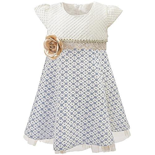 e0b0f0902d6c7 Lilax Little Girls' Sparkle Polka Dot Twirl Dress