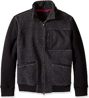 Men's Long Sleeve Zip Front Sherpa Knit Bomber Jacket