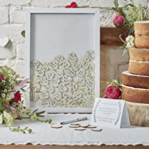 Ginger Ray Drop Top Wooden Frame Alternative Wedding Guest Book-Boho