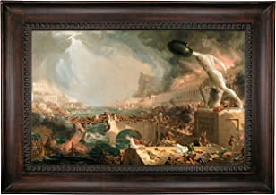 Historic Art Gallery The Course of Empire - Destruction 1836 by Thomas Cole Framed Canvas Print 19