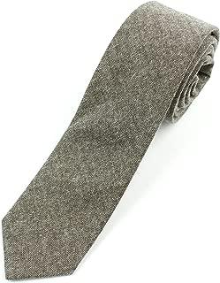 Men's Chambray Cotton Skinny Necktie Tie Textured Distressed Style - 2 1/2