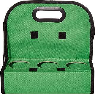 TheBiker, Cup Carrier Reusable Waterproof Folding Insulated, 6 Cups (Green, 1)
