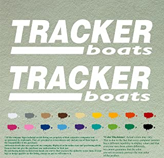 Pair of Tracker Boats Decals Vinyl Stickers Boat Outboard Motor Lot of 2 (12