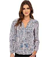 Rebecca Taylor - Long Sleeve Block Print Paisley Top