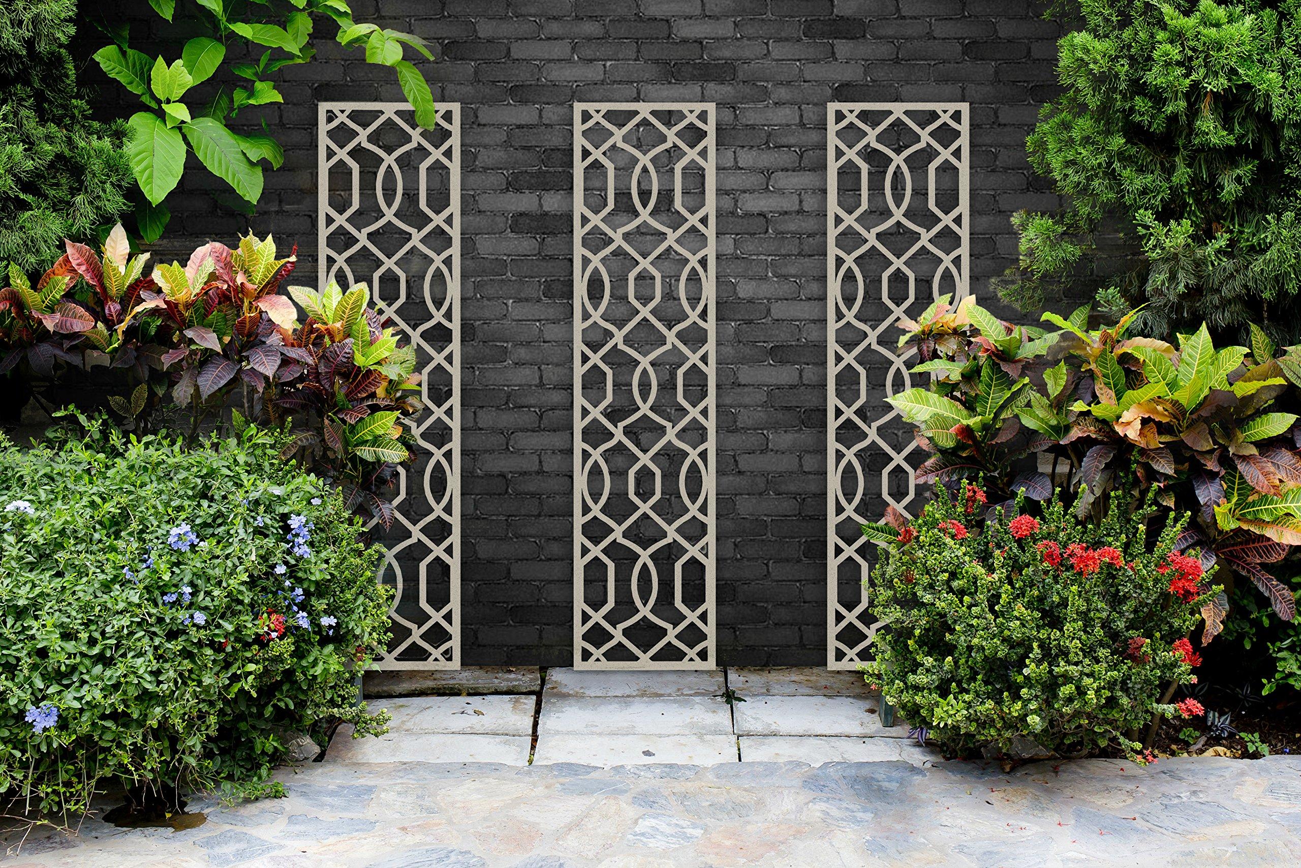 Enrejado de alta calidad para el jardín – 120 x 30 cm., crema: Amazon.es: Jardín
