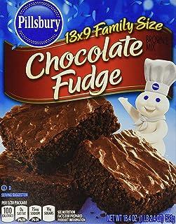 Pillsbury Chocolate Fudge Brownie Mix 18.4 Oz (Pack of 6)
