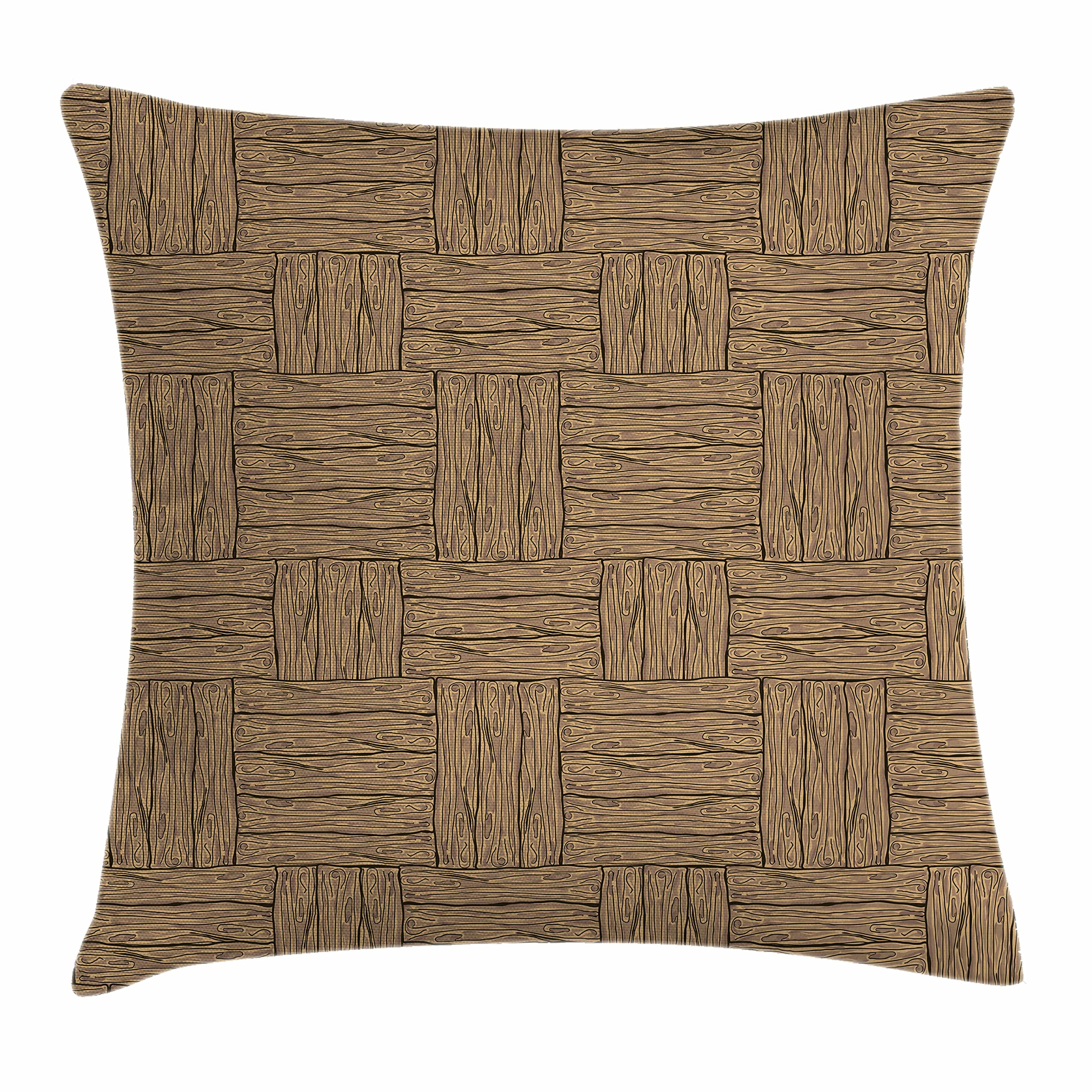Amazon Com Ambesonne Rustic Throw Pillow Cushion Cover Wooden Texture Pattern In Cartoon Drawing Style Abstract Parquet Floor Design Decorative Square Accent Pillow Case 40 X 40 Pale Brown Black Home Kitchen