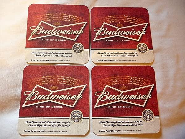 Budweiser King Of Beers Coaster 4 Pack