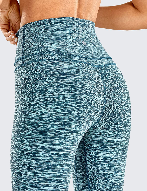 CRZ YOGA Mujer Naked Feeling Deportivos 7//8 Leggings Yoga Fitness Pantalon de Cintura Alta con Bolsillos-63cm