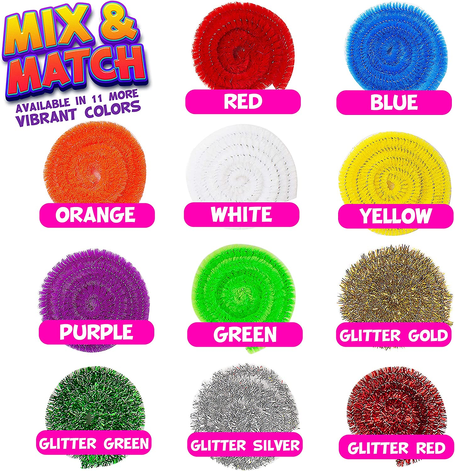 Extra Long Pieces DIY Art /& Craft Projects Pipe Cleaners Craft Chenille Stems Sparkle Crafting Colors 150 Pcs Blue Chenille Cleaners Kids Fuzzy Sticks Crafts Blue Pipe Cleaners
