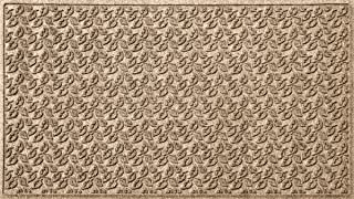 Bungalow Flooring Waterhog Indoor/Outdoor Doormat, 3' x 5', Made in USA, Skid Resistant, Easy to Clean, Catches Water and Debris, Dogwood Leaf Collection, Khaki/Camel
