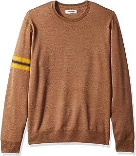 Amazon Brand - Goodthreads Men's Merino Sleeve Stripe Crewneck Sweater