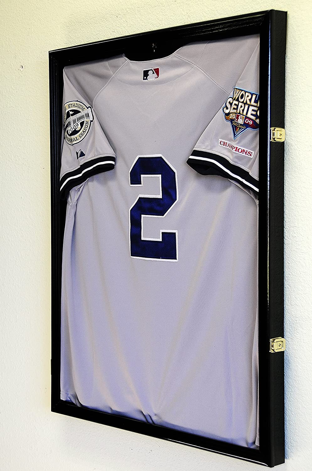 Baseball Jersey Frame Excellence Display Case Protection 98% Credence UV w Cabinet