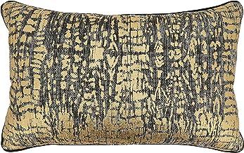 """SARO LIFESTYLE Animal Foil Print Throw Pillow, 14"""" x 22"""" Cover Only, Gold"""