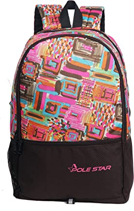 "POLE STAR ""HERO"" 32 Lt Pink Brown Casual Backpack I bagpack"