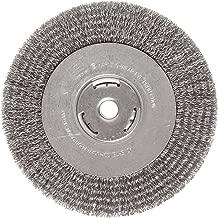 Weiler Vortec Pro Wide Face Wire Wheel Brush, Round Hole, Carbon Steel, Crimped Wire, 8