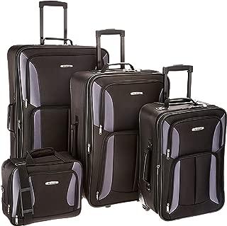 Luggage 4 Piece Set, Black/Gray, One Size