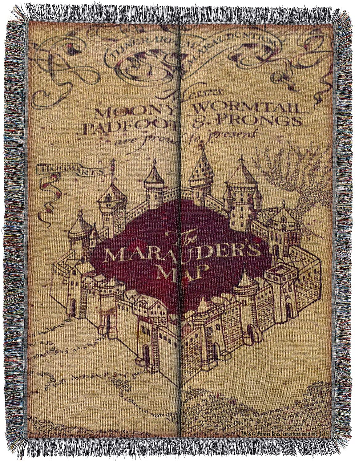 Ranking TOP3 Harry Potter OFFicial Woven Tapestry Throw Blanket 60 x 48 Marau Inches