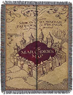 "The Northwest Company Warner Bros Tapiz Manta del Mapa del Merodeador de Harry Potter, 121.9 cm x 152.4 cm (48"" x 60"")"