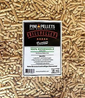 PINI Gillpellets 15 kg – pellets de Madera 100% de Roble