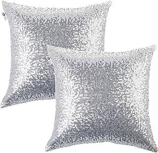 Amazon.com: Silver - Decorative Pillows, Inserts & Covers