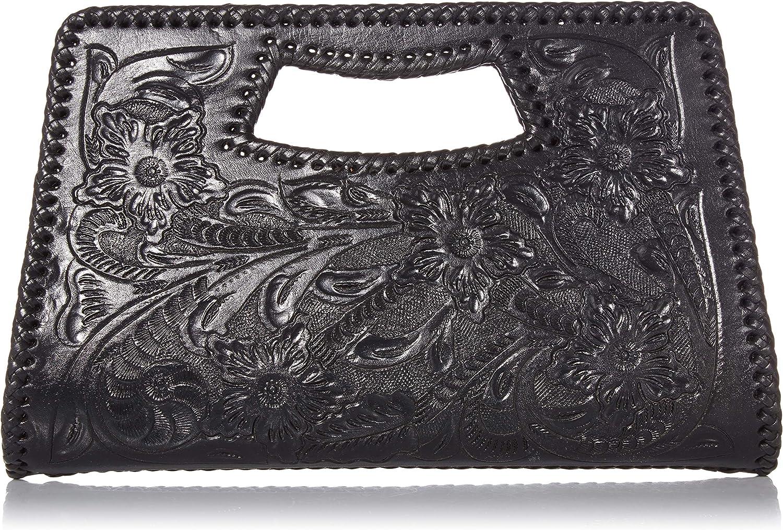 Mauzari Women's Hand Tooled Leather Clutch