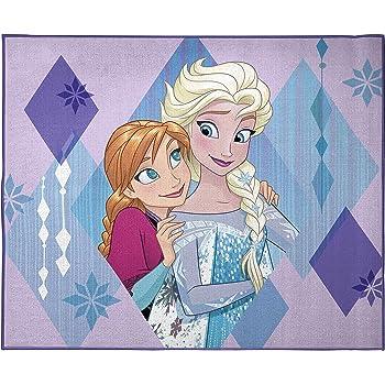 Jay Franco Disney Frozen Sisters Kids Room Rug - Large Area Rug Measures 4 x 5 Feet - Features Elsa & Anna (Offical Disney Pixar Product)