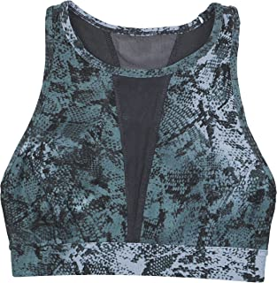 Performance Womens Printed Performance Sports Bra Gray M