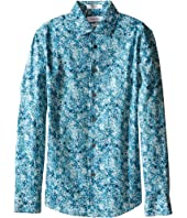 Calvin Klein Kids - Floral Camo Print Long Sleeve Shirt (Big Kids)