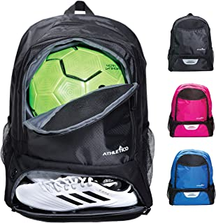 Athletico Youth Soccer Bag - Soccer Backpack & Bags for Basketball, Volleyball & Football | Includes Separate Cleat and Ball Compartment