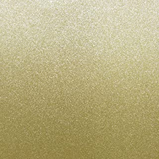 Best Creation 12-Inch by 12-Inch Glitter Cardstock, Bright Gold (15 sheets)