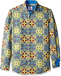 Azaro Uomo Mens Long Sleeve Dress Shirt Fitted Casual Button Down Slim Fit Button Down Shirt