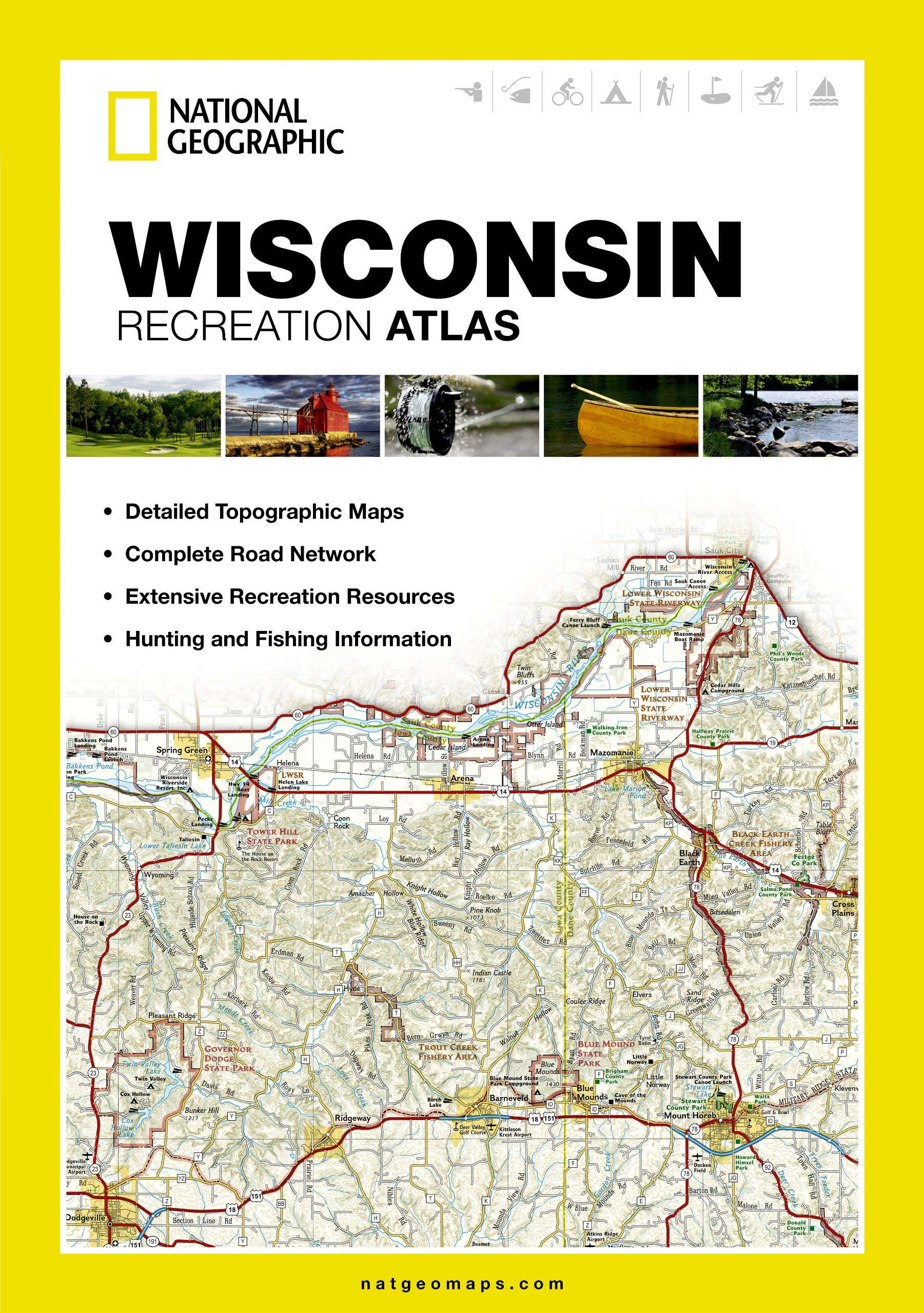Wisconsin: State Recreation Atlas (State Rec Atlas) By National Geographic Maps (2-Aug-2012) Paperback