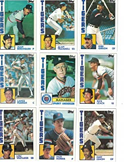 Detroit Tigers / Complete 1984 Topps Detroit Tigers Baseball Team Set with Jack Morris, Alan Trammell, Lou Whitaker and More. World Series Champs!
