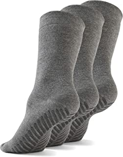 Gripjoy Grip Socks Non Slip Socks for Women Men - Non Skid Hospital Socks – 3 pk