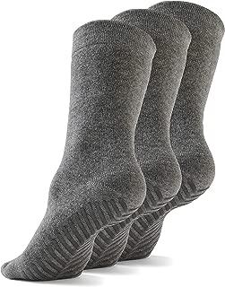 Grip Socks Non Slip Socks for Women Men - Non Skid Hospital Socks – 3 pk