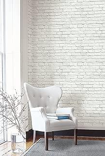 Vintage Charm Brick Wallpaper (White)