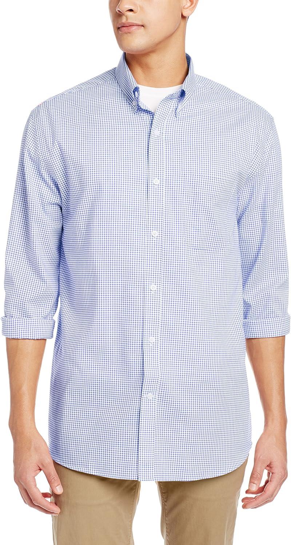 Cutter & Buck Men's Long Sleeve Epic Easy Care Tattersall Shirt