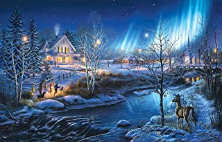 300 Piece Puzzle for Adults - Large Piece - A Snowy Holiday Jigsaw Puzzle