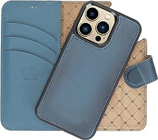 VENOULT Admiral Blue iPhone 13/13 Pro / 13 Pro MAX / 13 Mini Wallet Case Genuine Leather Magnetic Detachable Luxury Flip C...