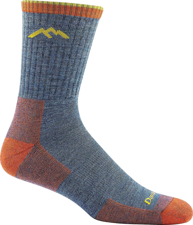 Darn Tough Men's 1466 Merino Wool Hiker Micro Crew Cushion Socks, 6 Pack