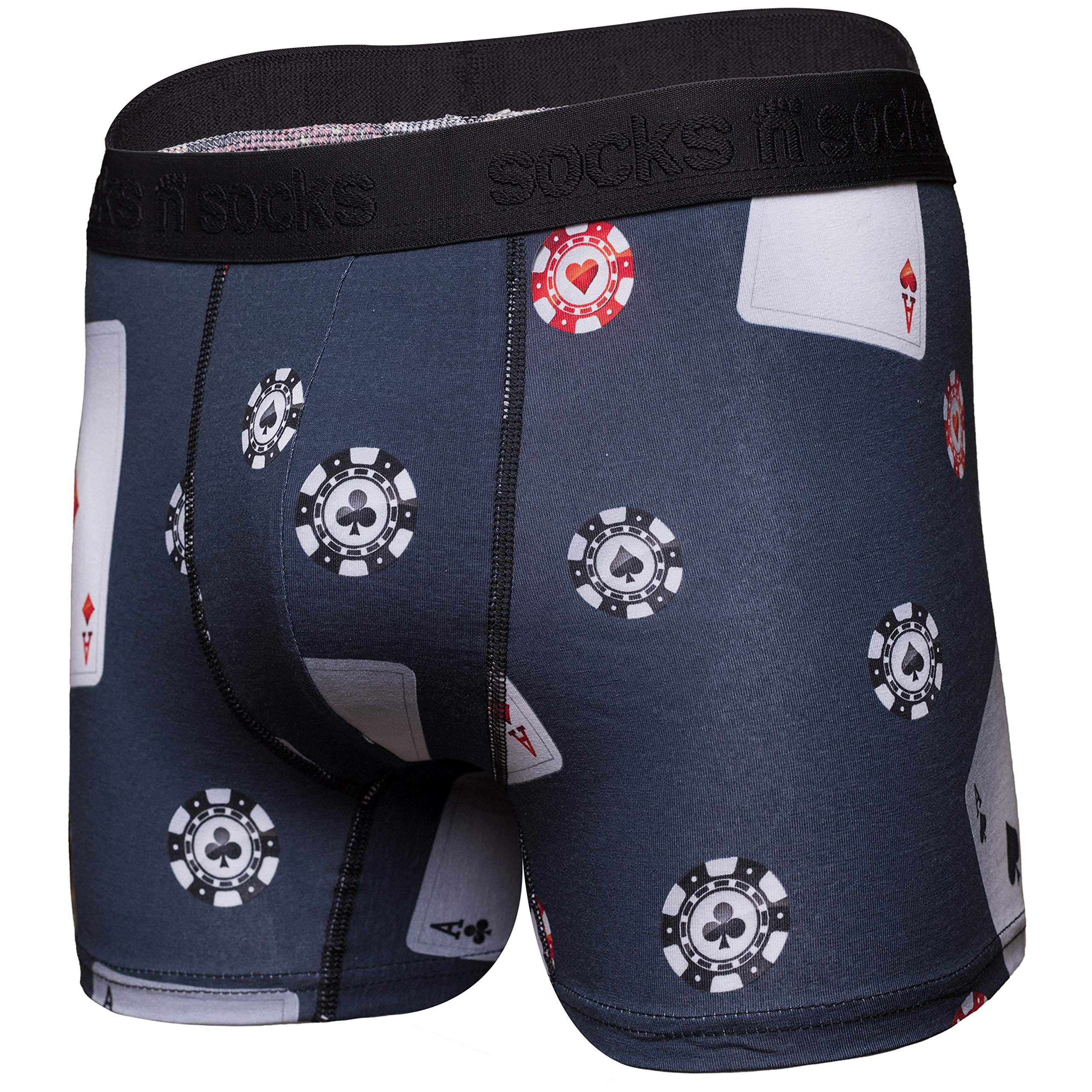 Image of Gambling Cards and Poker Chips Boxer Briefs for Men