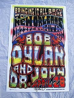 2006 Bob Dylan & Dr. John New Orleans Concert Poster Autographed by Artist