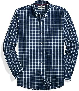 Amazon Brand - Goodthreads Men's Standard-Fit Long-Sleeve Plaid Chambray Shirt
