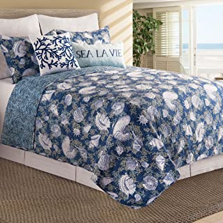 C&F Home Cape Coral King 3 Piece Quilt Set King Indigo