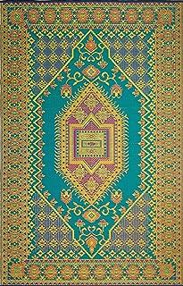 Mad Mats Oriental Turkish Indoor/Outdoor Floor Mat, 6 by 9-Feet, Aqua