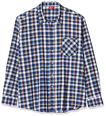Engelbert Strauss Malmö - Camisa de trabajo (talla M), color azul oscuro, azul y amarillo